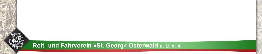Zur Startseite: Reit- und Fahrverein St. Georg Osterwald u.U. e.V.